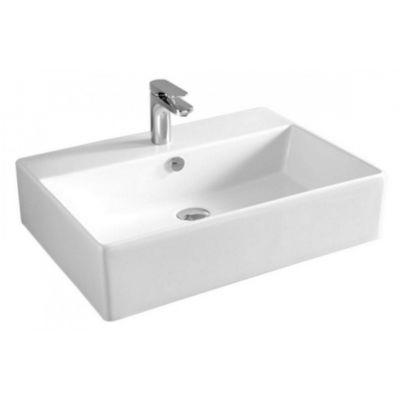 Art Ceram Quadro umywalka 65x48 cm nablatowa prostokątna biała QUL00301;00