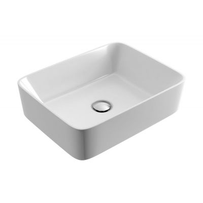 Actima Forka umywalka 47,5x37,5 cm nablatowa prostokątna biała CEAC.3401.475.WH