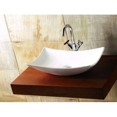 Bathco Spain Magdalena umywalka 57x39 cm nablatowa biała 0092