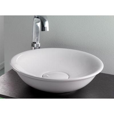 Bathco Spain Cuenca umywalka 45 cm nablatowa okrągła biała 4033