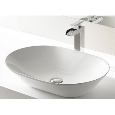Bathco Spain New Toulouse umywalka 60x42 cm nablatowa owalna biała 4037N