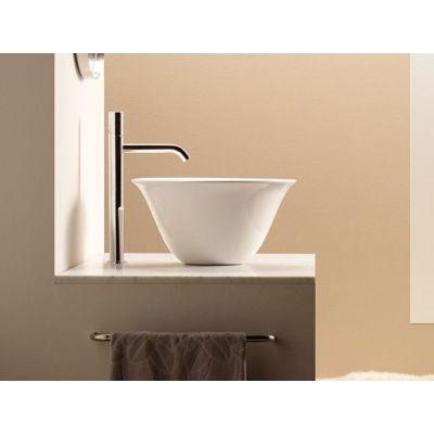 Bathco Spain Nordic umywalka 42 cm nablatowa okrągła biała 4062