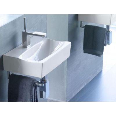 Bathco Spain Rhin umywalka 42,5x30 cm ścienna prostokątna biała 4902