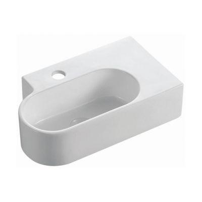Bathco Spain Kabuto umywalka 44,5x26,5 cm wisząca biała 4051