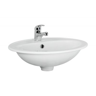Cersanit Calla umywalka 54 cm nablatowa biała K11-0096