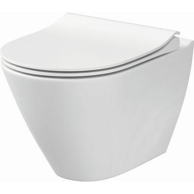 Cersanit City Oval New miska WC wisząca z deską wolnoopadającą Slim biała K701-104
