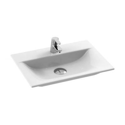 CeraStyle Olinda umywalka 50x36,5 cm nablatowa prostokątna biała 031600-u
