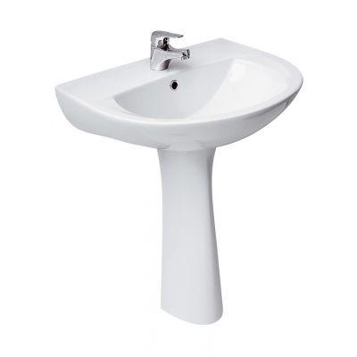 Cersanit President umywalka 60x48,5 cm półokrągła ścienna biała K08-009