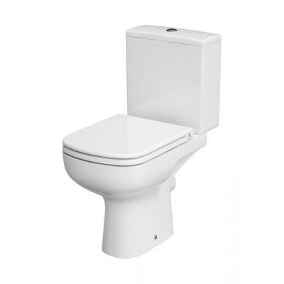Cersanit Colour New zestaw WC kompakt bez kołnierza CleanOn z deską wolnoopadającą biały K103-027