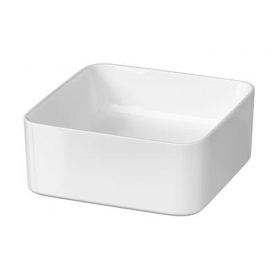 Cersanit Crea umywalka 35 cm nablatowa kwadratowa biała K114-007