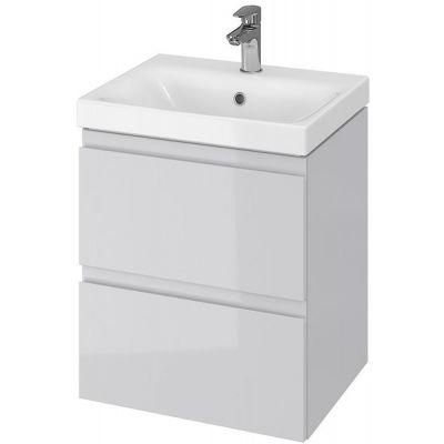 Cersanit Moduo umywalka 50 cm z szafką wiszącą szarą S801-219