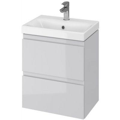Cersanit Moduo Slim umywalka 50 cm z szafką wiszącą szarą S801-228