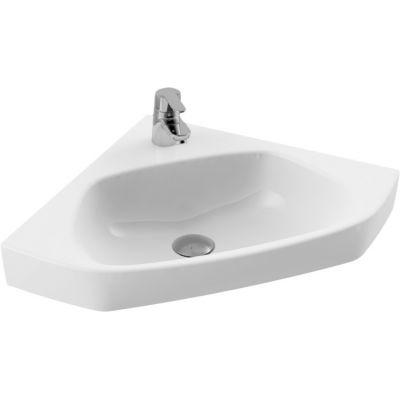 CeraStyle Arda umywalka 46x46 cm ścienna narożna biała 001900-u