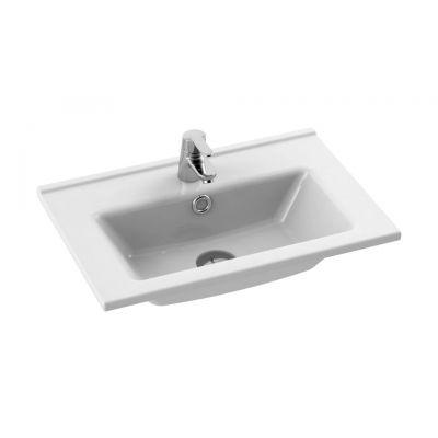 CeraStyle Arte umywalka 55 cm meblowa prostokątna biała 067200-u
