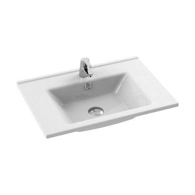 CeraStyle Arte umywalka 65 cm meblowa prostokątna biała 067300-u