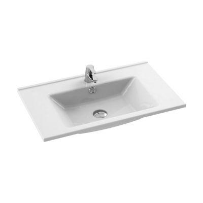 CeraStyle Arte umywalka 75x45 cm meblowa prostokątna biała 067400-u
