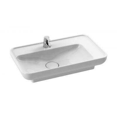 CeraStyle Lal umywalka 70x41,5 cm nablatowa / wpuszczana prostokątna biała 072300-u
