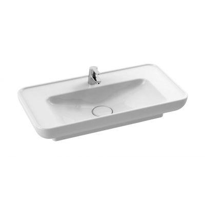 CeraStyle Lal umywalka 80x42 cm nablatowa / wpuszczana prostokątna biała 072400-u