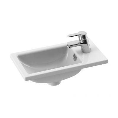 CeraStyle Mini umywalka 22 cm meblowa prostokątna biała 071000-u
