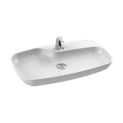 CeraStyle Nova umywalka 70x43 cm nablatowa owalna biała 074400-u