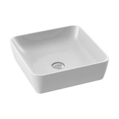 CeraStyle One umywalka 46x45,5 cm nablatowa prostokątna biała 076000