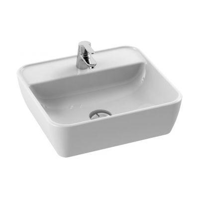 CeraStyle One umywalka 46x42 cm nablatowa prostokątna biała 076300-u