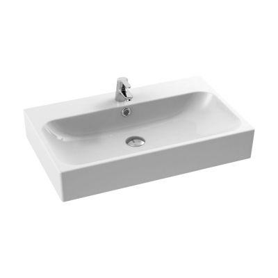 CeraStyle Pinto umywalka 75 cm meblowa prostokątna biała 080000-u