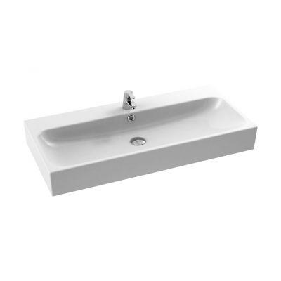 CeraStyle Pinto umywalka 100 cm meblowa prostokątna biała 080300-u