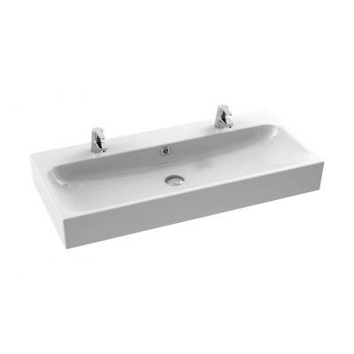 CeraStyle Pinto umywalka 100 cm meblowa prostokątna biała 080500-u