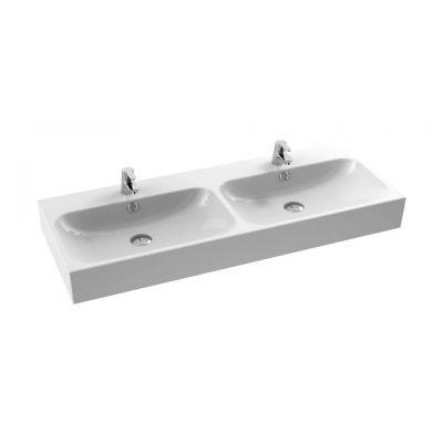CeraStyle Pinto umywalka 120 cm meblowa podwójna prostokątna biała 080700-u