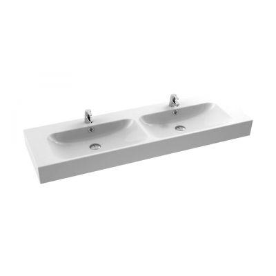 CeraStyle Pinto umywalka 150 cm meblowa prostokątna podwójna biała 080900-u