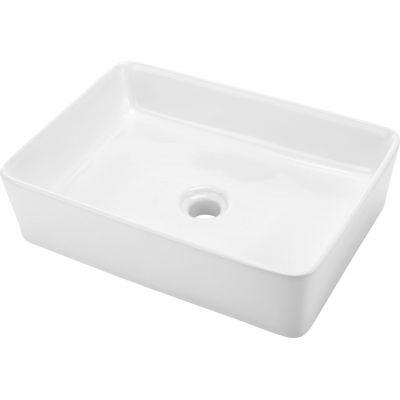 Deante Hiacynt umywalka 50x36 cm nablatowa prostokątna biała CDH6U5S