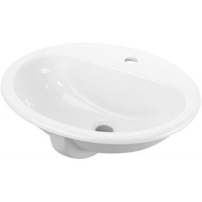 Deante Konwalia umywalka 52x45 cm owalna wpuszczana w blat biała CDK6U5B