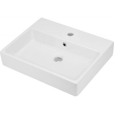 Deante Temisto umywalka nablatowa 50x40 cm prostokątna biała CDT6U4S