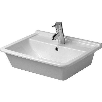Duravit Starck 3 umywalka 56x46,5 cm wpuszczana w blat prostokątna biała 0302560000