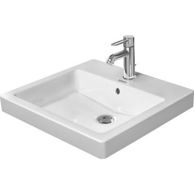 Duravit Vero umywalka 50x46,5 cm wpuszczana w blat prostokątna biała 0315500000