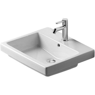 Duravit Vero umywalka 55x46,5 cm wpuszczana w blat prostokątna biała 0315550030