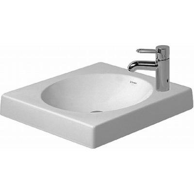 Duravit Architec umywalka 50x50 cm nablatowa kwadratowa WonderGliss biała 03205000081