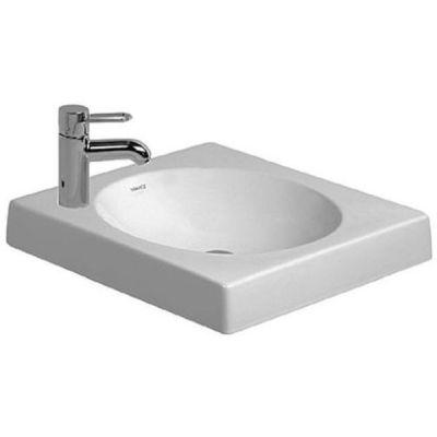 Duravit Architec umywalka 50x50 cm nablatowa kwadratowa WonderGliss biała 03205000091