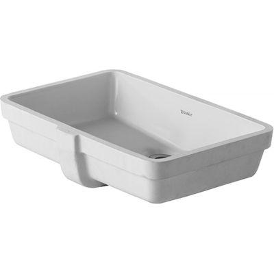 Duravit Vero umywalka 48,5x31,5 cm podblatowa prostokątna biała 0330480000