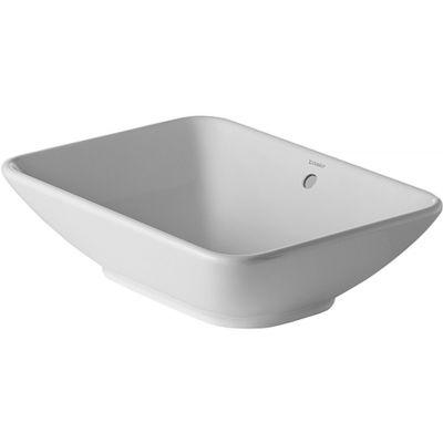 Duravit ME by Starck umywalka 55x42 cm nablatowa prostokątna WonderGliss biała 03345200001