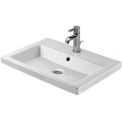 Duravit 2nd floor umywalka 60x43 cm wpuszczana w blat prostokątna biała 0347600000