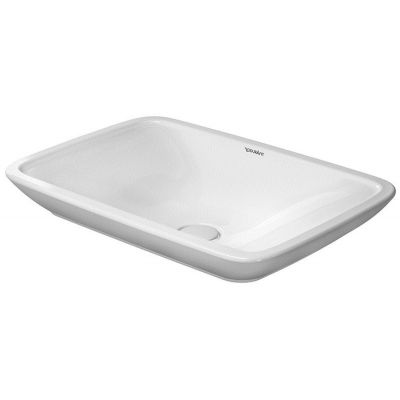 Duravit PuraVida umywalka 70x46,5 cm nablatowa prostokątna WonderGliss biała 03697000001