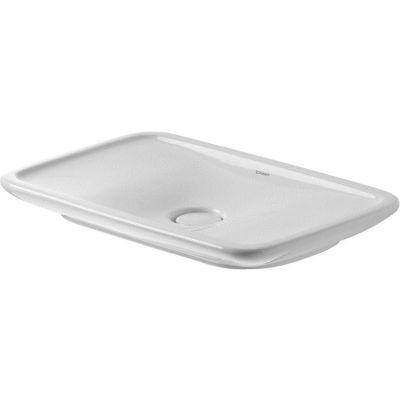 Duravit PuraVida umywalka 69,5x41,5 cm nablatowa prostokątna WonderGliss biała 03707000001