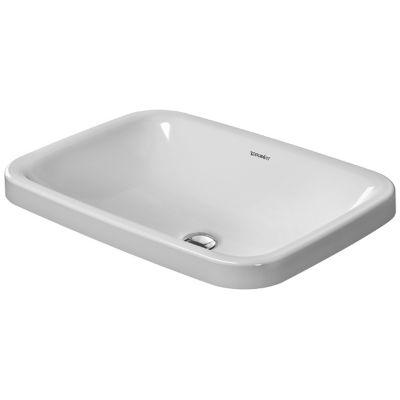 Duravit DuraStyle umywalka 60x43 cm wpuszczana w blat prostokątna WonderGliss biała 03726000001