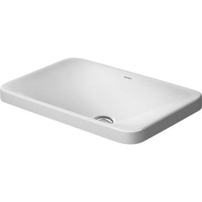 Duravit P3 Comforts umywalka 55x36 cm wpuszczana w blat prostokątna biała 0377550000