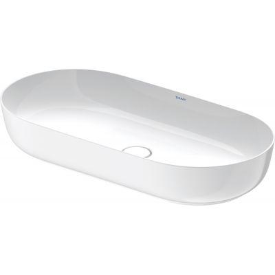 Duravit Luv umywalka 80x40 cm nablatowa owalna WonderGliss biała 03798000001