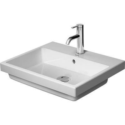 Duravit Vero Air umywalka 55x45,5 cm wpuszczana w blat prostokątna biała 0383550000