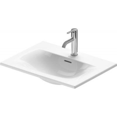 Duravit Viu umywalka 60x45 cm wpuszczana w blat prostokątna WonderGliss biała 03856000001