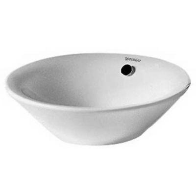 Duravit Starck 1 umywalka 33 cm nablatowa okrągła WonderGliss biała 04083300001